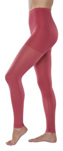 Red compression stockings