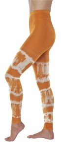 Orange tie dye compression leggings