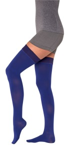Midnight blue compression stockings