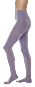 Purple compression stockings