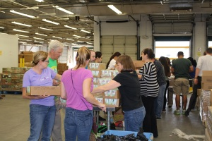 united food bank volunteer event